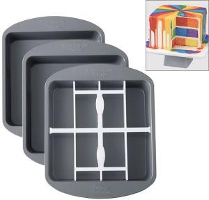 Non-Stick Checkerboard Cake Pan Set 4pc