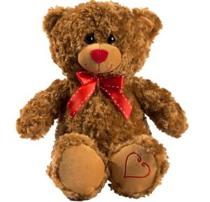 Brown Bow Teddy Bear Plush