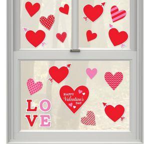 Valentine's Day Window Cling Decals 20ct