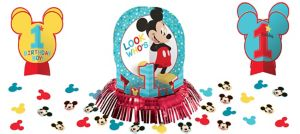 1st Birthday Mickey Mouse Table Decorating Kit 23pc