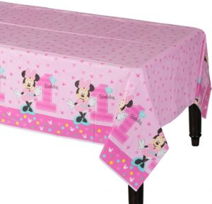 1st Birthday Minnie Mouse Table Cover