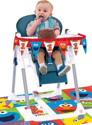 1st Birthday Elmo High Chair Decorating Kit 2pc
