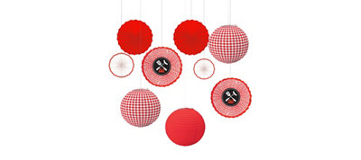 Gingham Decorations Kit