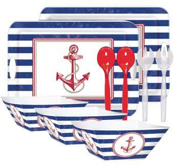 Nautical Serveware Kit