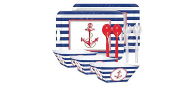 Nautical Serveware Kit