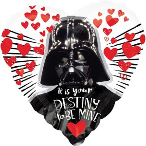 Darth Vader Valentine's Day Heart Balloon - Star Wars