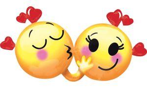 Giant Kissing Smiley Valentine's Day Balloon