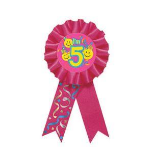 Smile 5th Birthday Award Ribbon