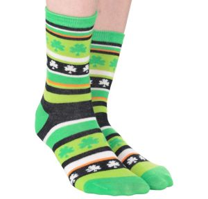 St. Patrick's Day Shamrock Crew Socks