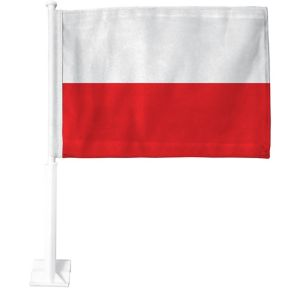 Polish Flag Car Flag