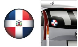 Dominican Flag Decal