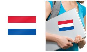 Dutch Flag Cling Decal