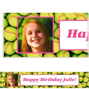 Custom Softball Ticket Photo Banner