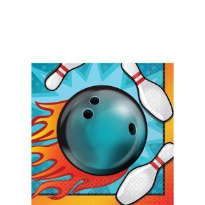 Bowling Beverage Napkins 16ct