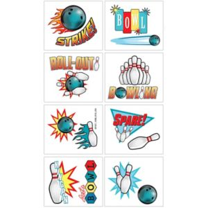Bowling Tattoos 1 Sheet