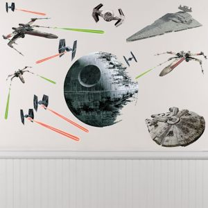 Star Wars Spaceships Wall Decals 21ct