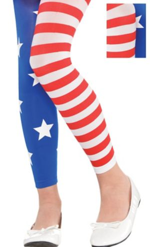 Child Patriotic Footless Tights