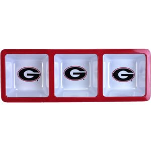 Georgia Bulldogs Divided Snack Tray