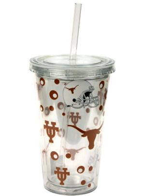 Texas Longhorns Double Wall Tumbler with Straw