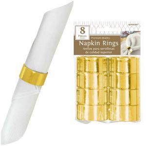 Gold Napkin Rings 8ct