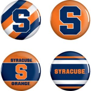 Syracuse Orange Buttons 4ct