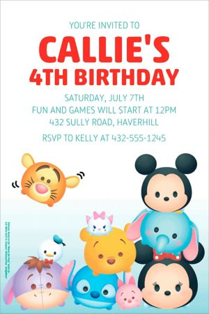 Custom Tsum Tsum Invitation
