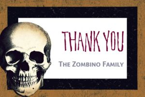 Custom Skull Thank You Note