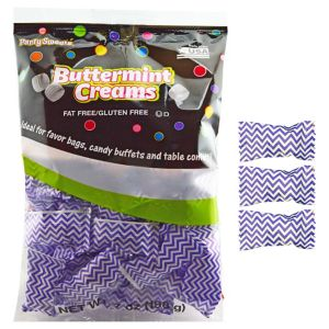 Purple Chevron Pillow Mints 50ct