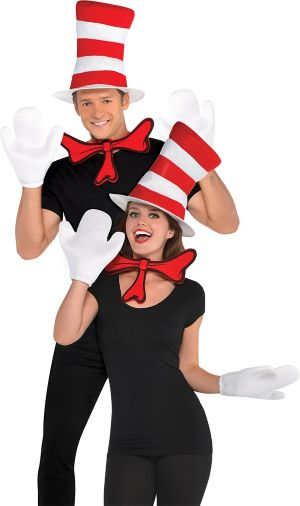Adult Cat in the Hat Costume Accessory Kit - Dr. Seuss