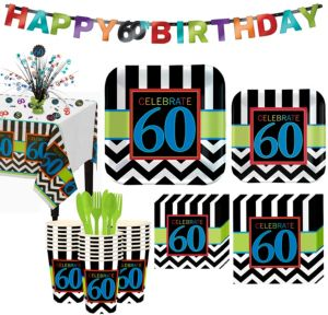 Celebrate 60th Birthday Party Kit for 32 Guests