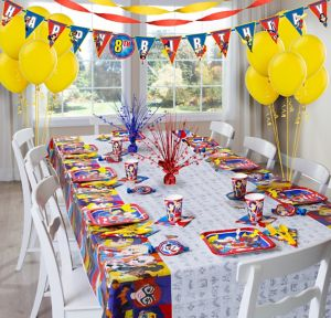 DC Superhero Girls Super Party Kit for 8 Guests