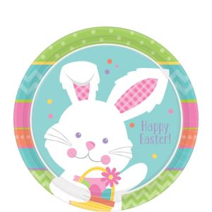 Hippity Hop Easter Bunny Dessert Plates 8ct