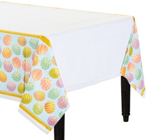 Golden Easter Egg Table Cover