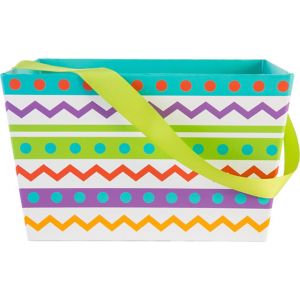Spring Chevron Square Easter Basket
