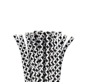 Black Diamond Flexible Paper Straws 24ct