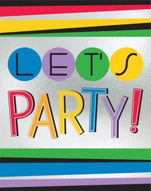 Rainbow Happy Birthday Invitations 8ct