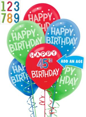 Rainbow Happy Birthday Balloon Kit
