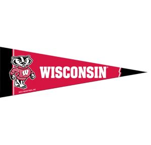 Small Wisconsin Badgers Pennant Flag