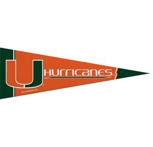 Small Miami Hurricanes Pennant Flag