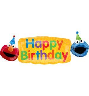 Giant Sesame Street Birthday Banner Balloon