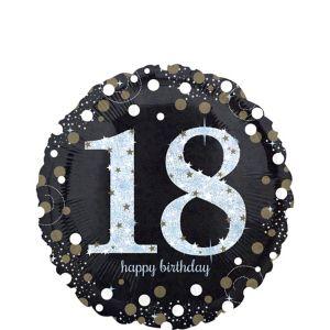 18th Birthday Balloon - Sparkling Celebration