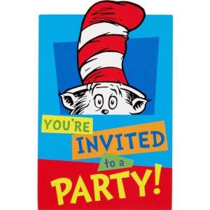 Dr. Seuss Invitations 8ct
