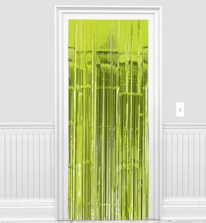 Kiwi Green Fringe Doorway Curtain