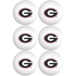Georgia Bulldogs Pong Balls 6ct