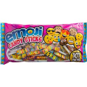 Smiley Candy Sticks 101ct