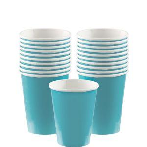 Caribbean Blue Paper Cups 20ct