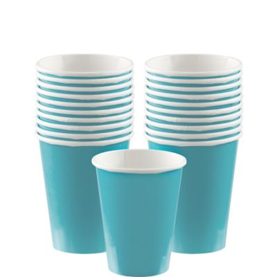 Caribbean Blue Paper Cups 20ct