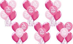 Welcome Baby Girl Balloon Kit 30ct