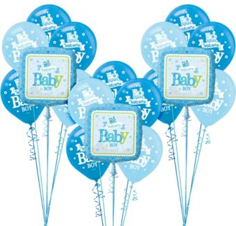 Welcome Baby Boy Balloon Kit 18ct