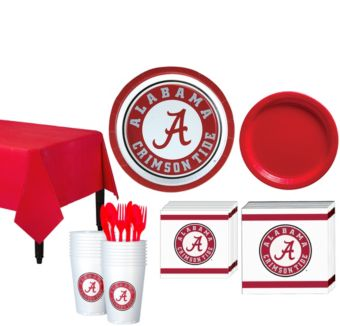 Alabama Crimson Tide Basic Party Kit for 16 Guests